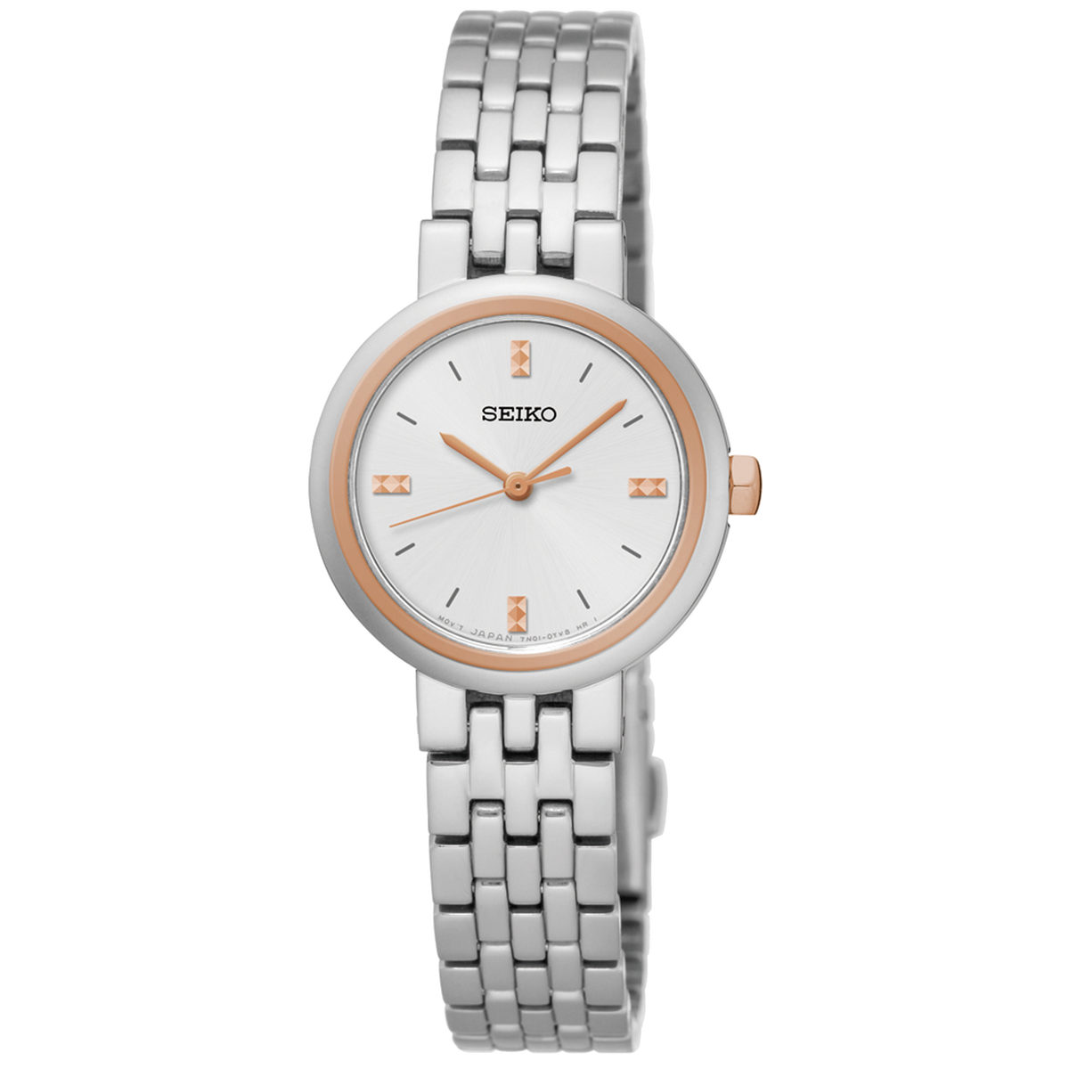 Seiko Watch - Stainless Steel with Rose accents