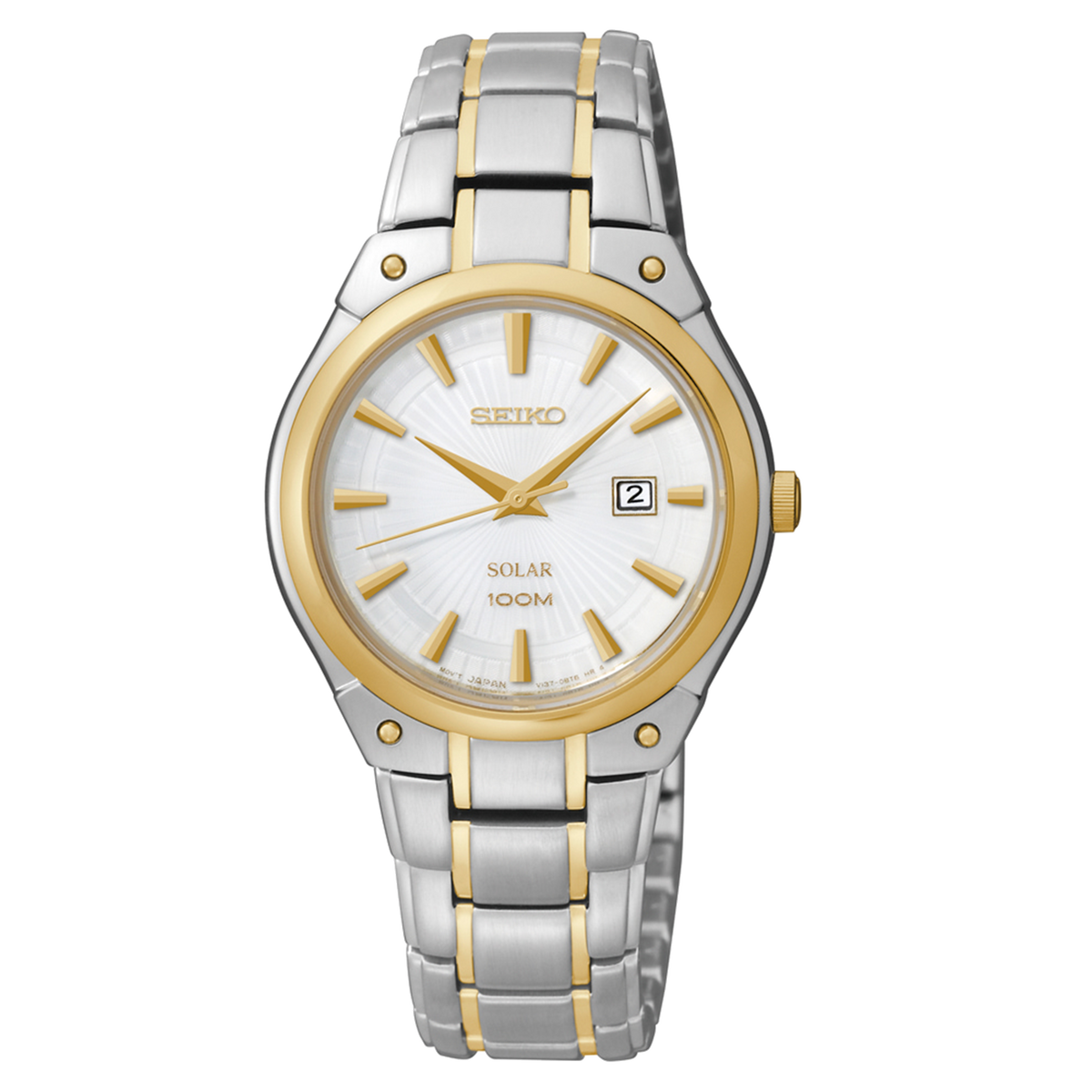 Seiko Watch Solar - Two Tone