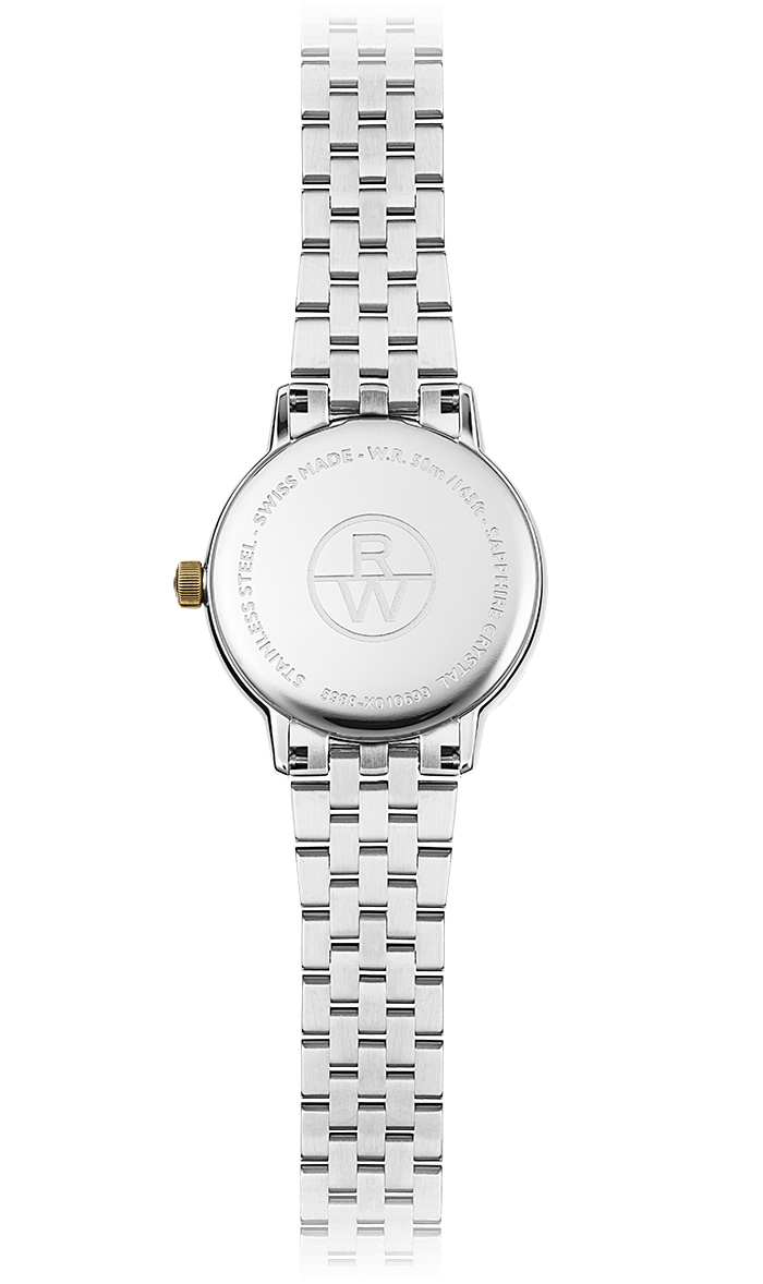 Raymond Weil Watch - TOCCATA Two-tone Quartz Date Watch, 29mm yellow tone PVD, white mother-of-pearl dial, 11 diamonds