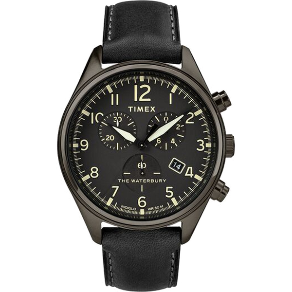 Timex - Waterbury Traditional Chronograph 42mm Leather Strap