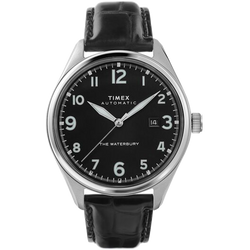 Timex - Waterbury Traditional Automatic 42mm Leather Strap Watch