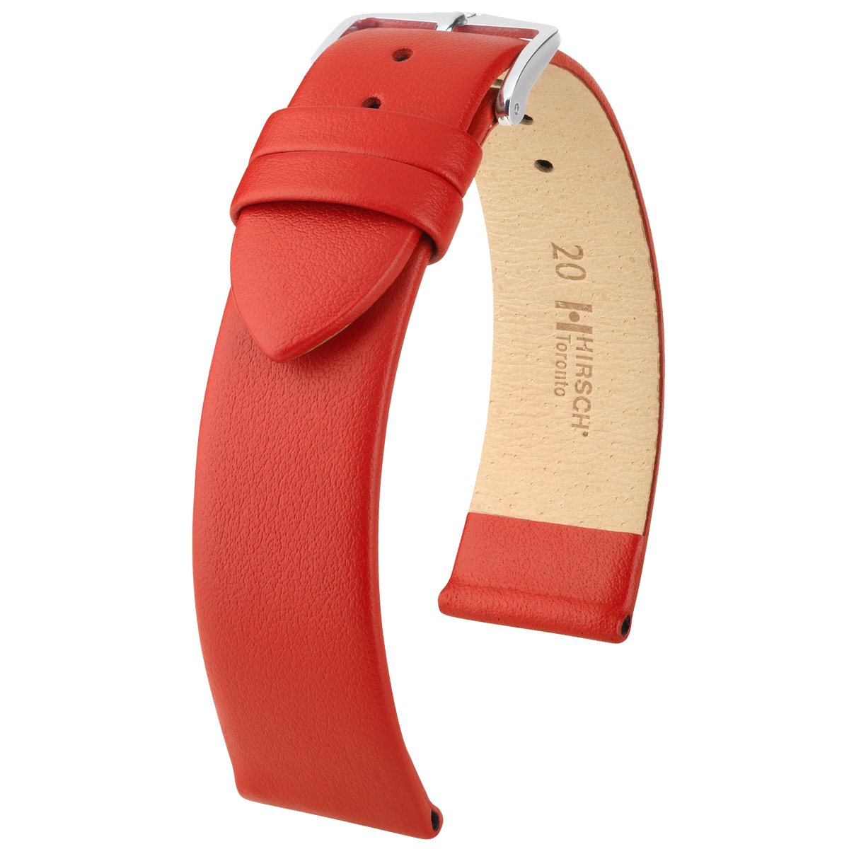 Hirsch Toronto Fine Grained Leather Watch Strap