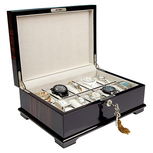 Madison Burke: AIDAN- Ebony 10 Watch Box