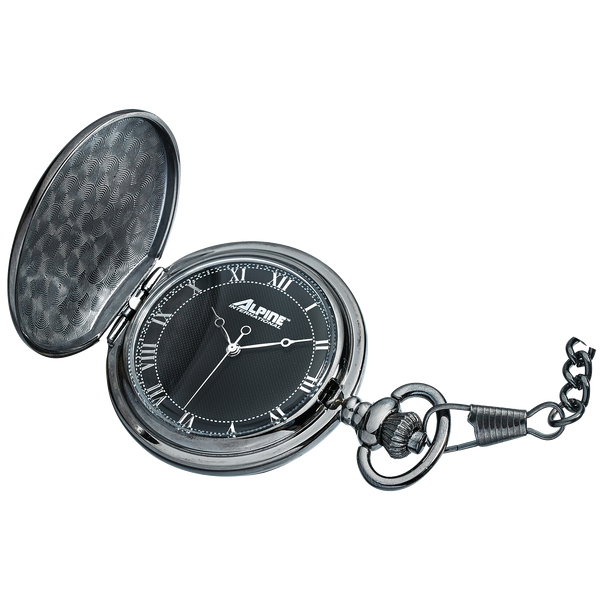 Alpine Quartz Pocket Watch - Gunmetal