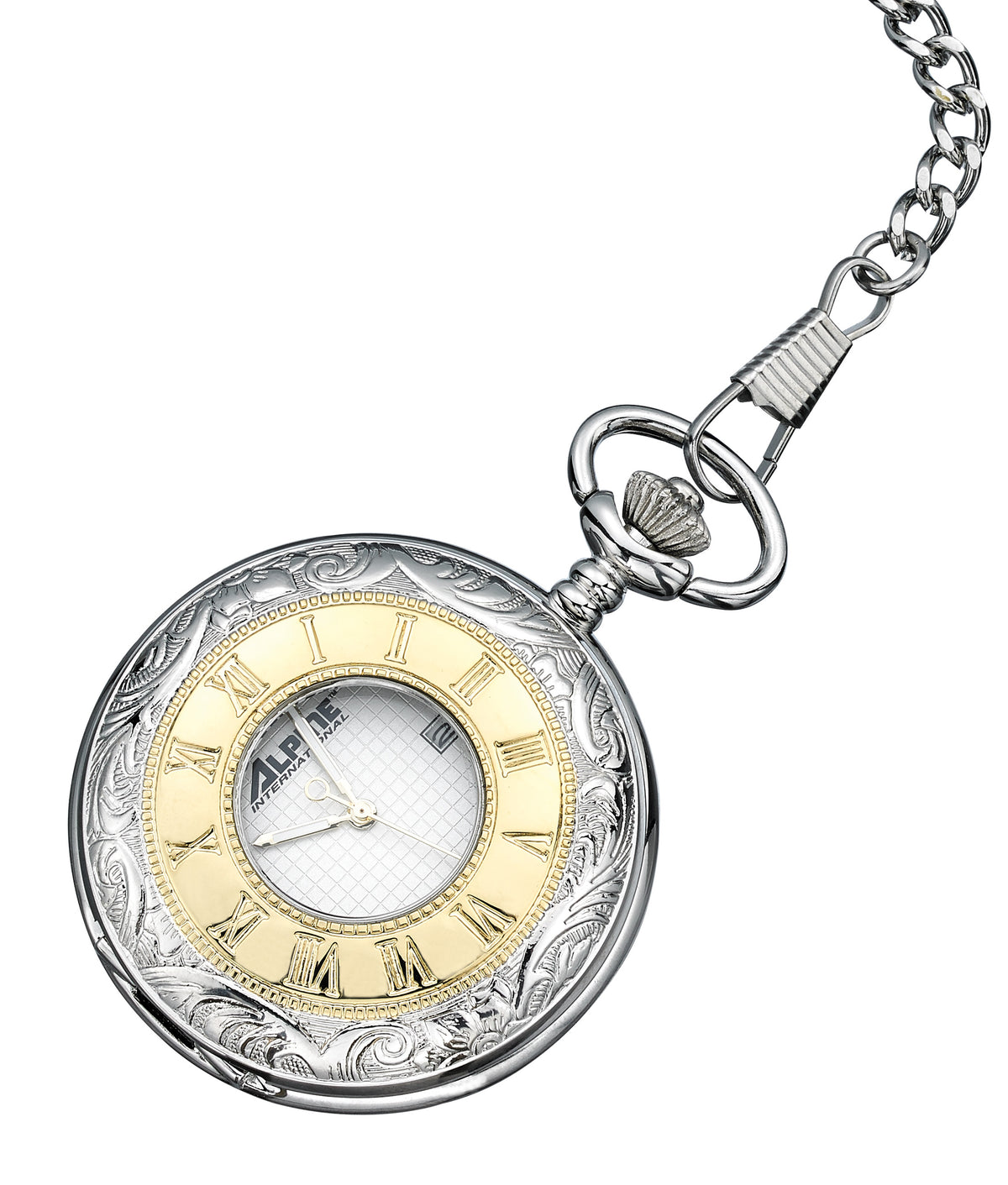 Alpine Quartz Pocket Watch - Two Tone