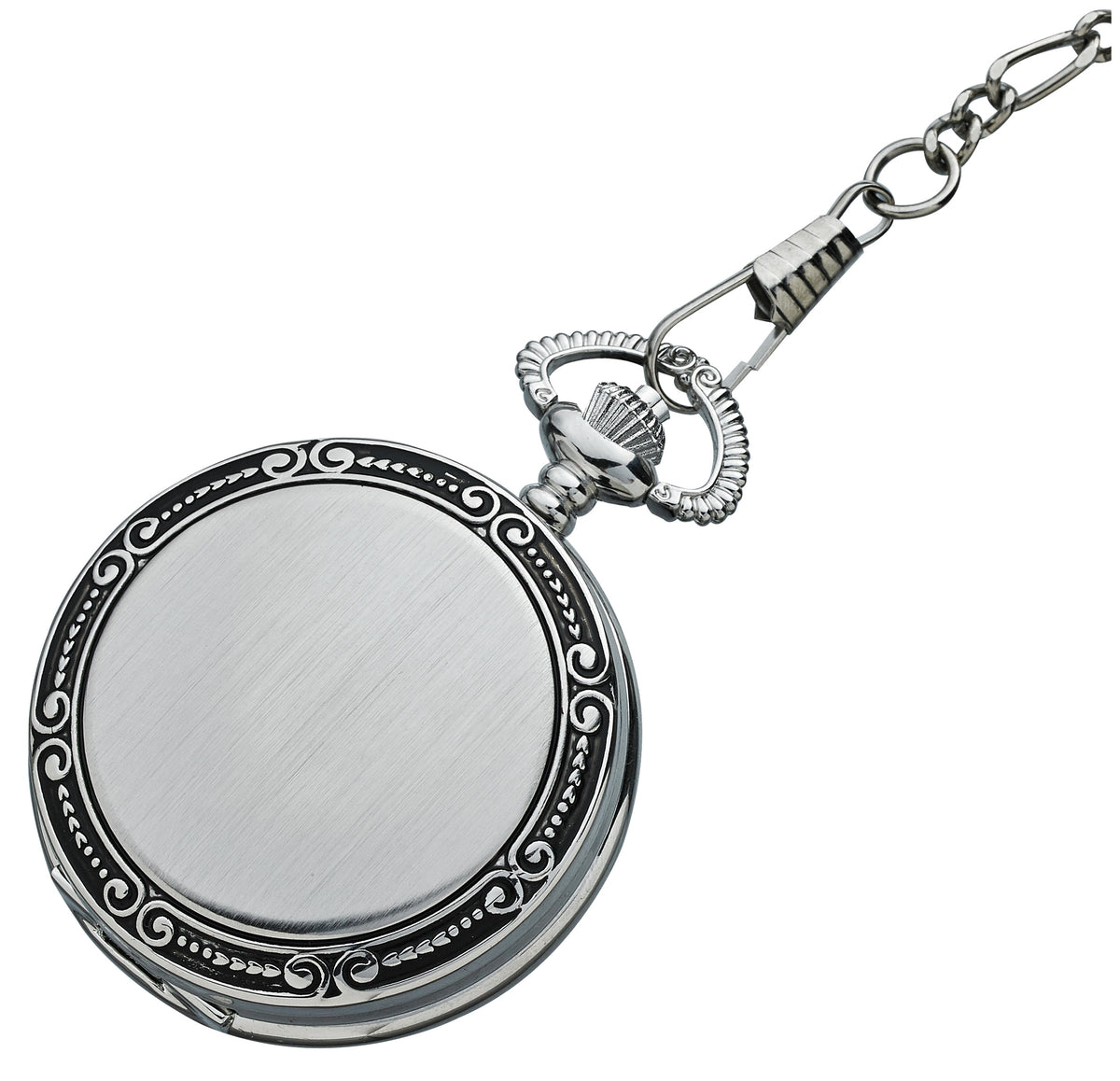 Alpine Quartz Pocket Watch - Silver with Photoframe