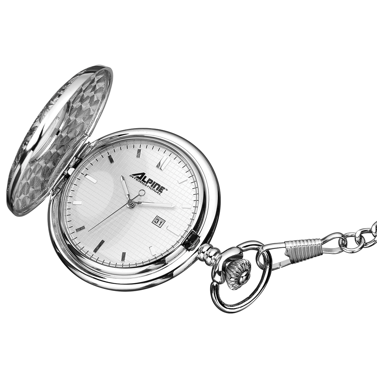 Alpine Quartz Pocket Watch - Silver