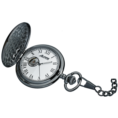 Alpine Mechanical Pocket Watch - Gunmetal