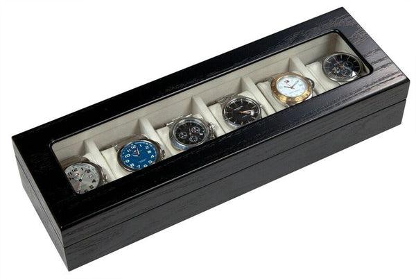 Alpine Wooden 6 Watch Box