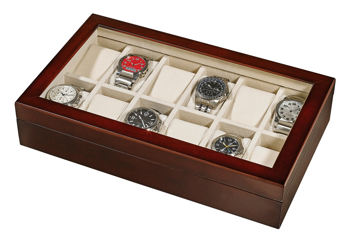 Alpine Wooden 12 Watch Box