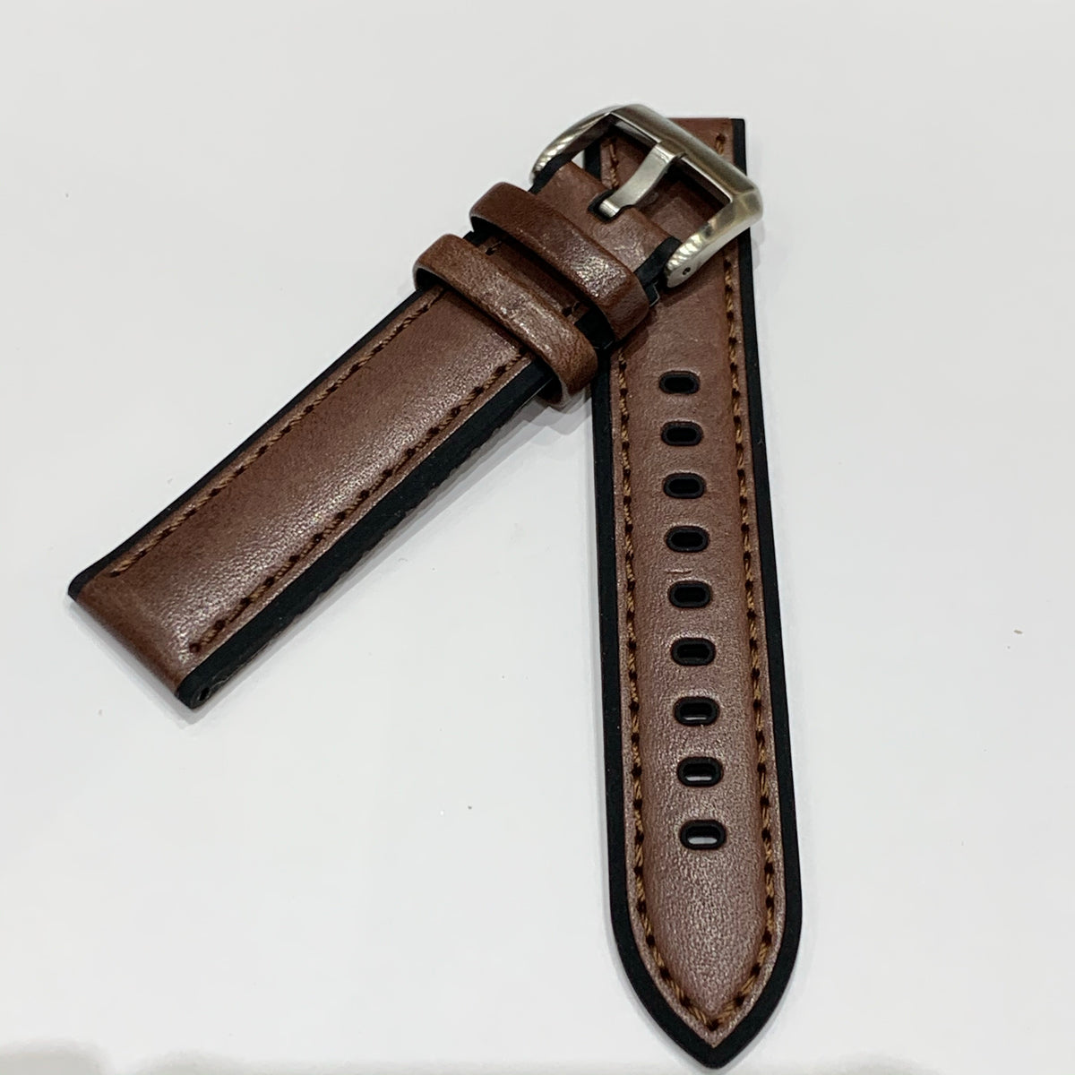 Alpine Watchstrap - Smooth Leather w. Silicone lining