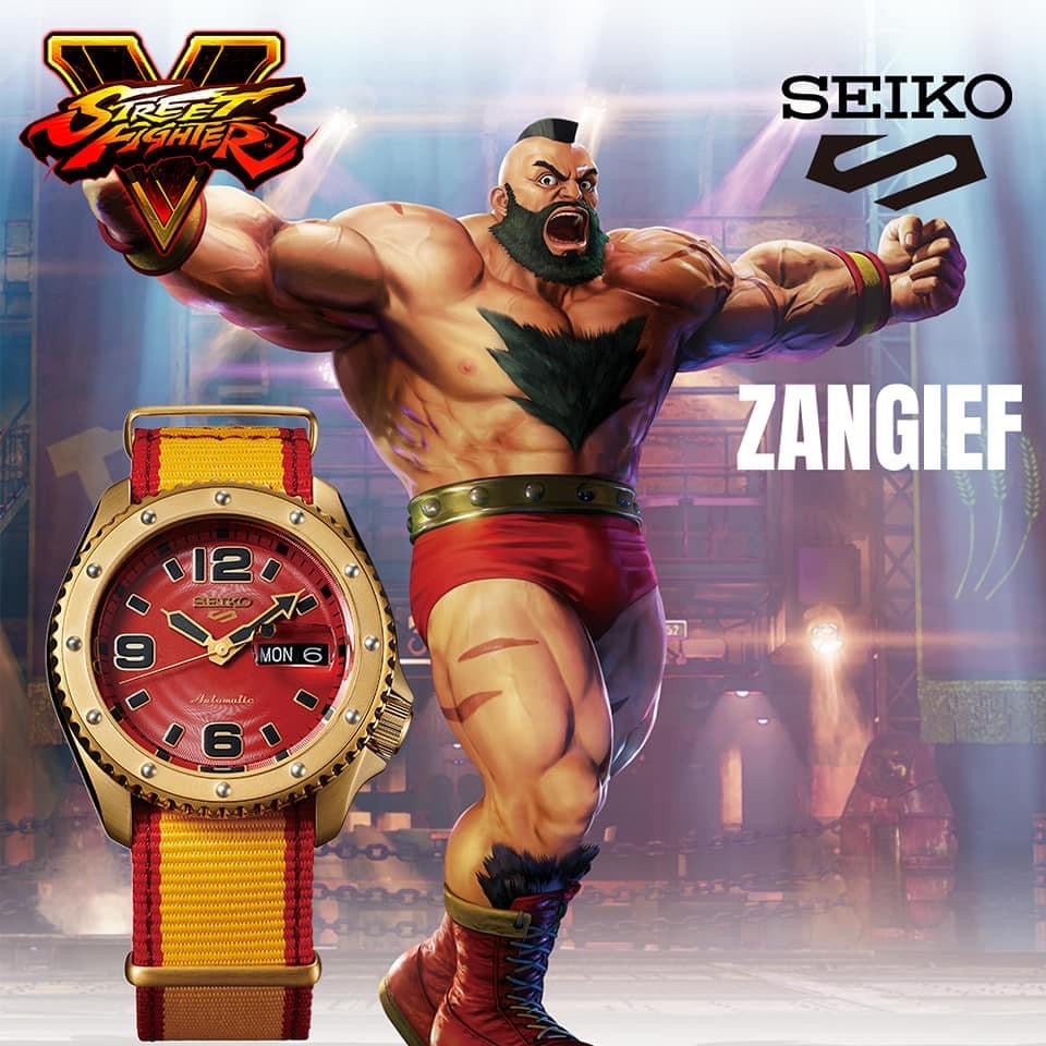 Seiko 5 Sport - Street Fighter Limited Edition JDM set