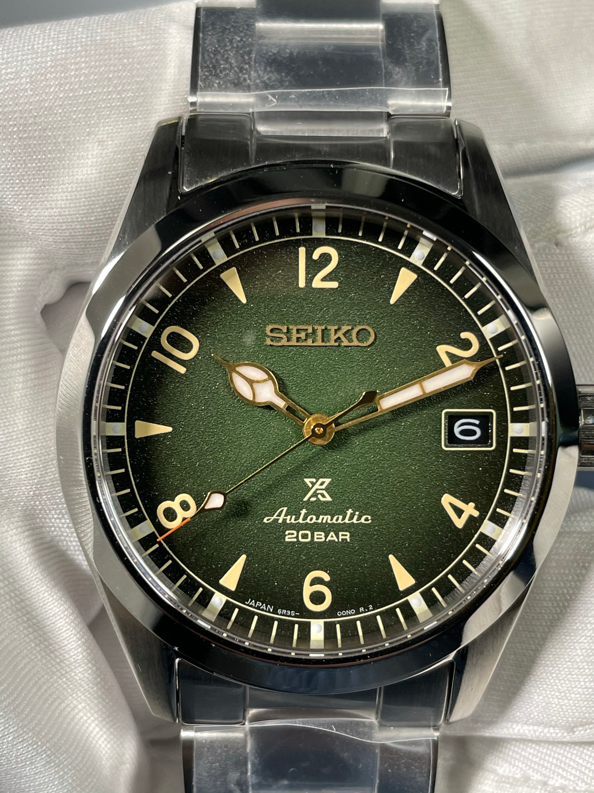 "Seiko PROSPEX 38mm ""Alpinist"" - Green Dial"