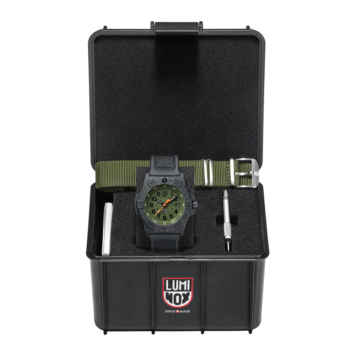 Luminox Navy Seal Watch - 3500 Series Green Dial Set