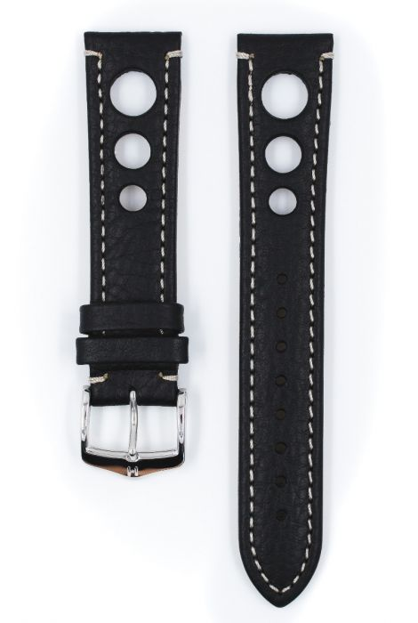 Hirsch RALLY Natural Leather Racing Watch Strap