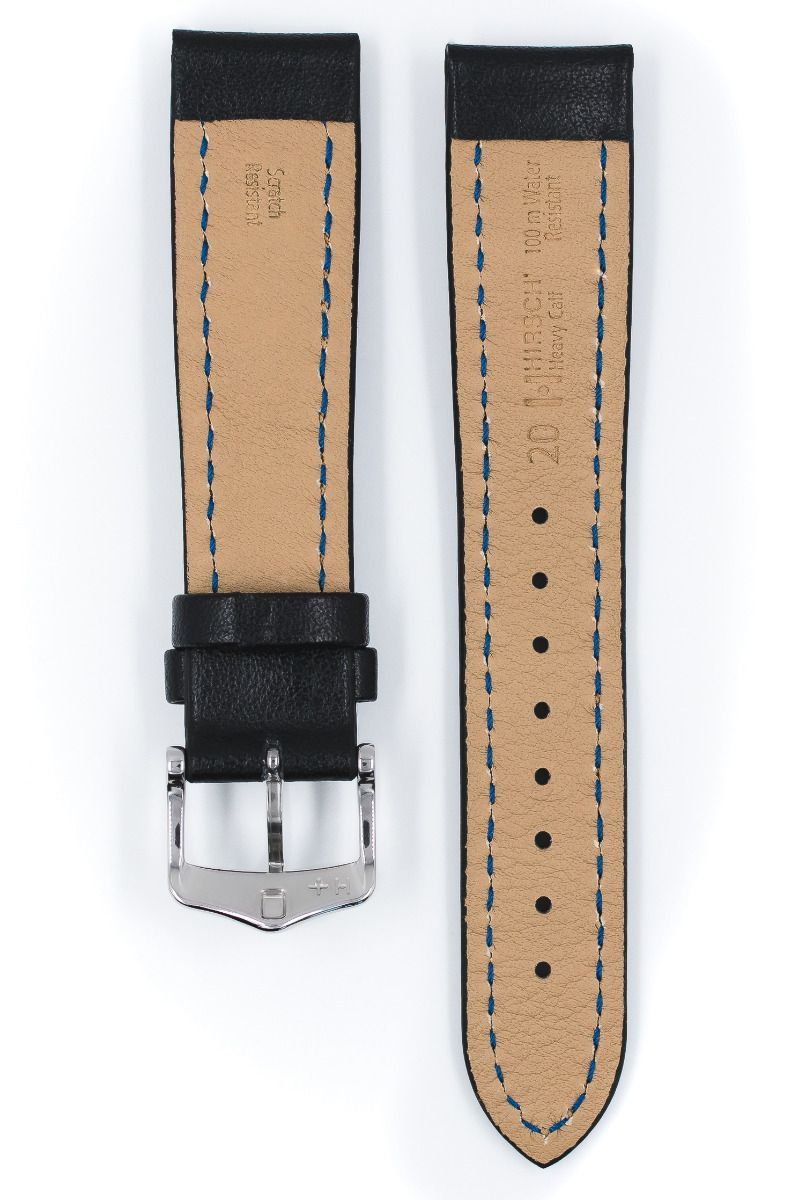 Hirsch HEAVY CALF Water-Resistant Calf Leather Watch Strap