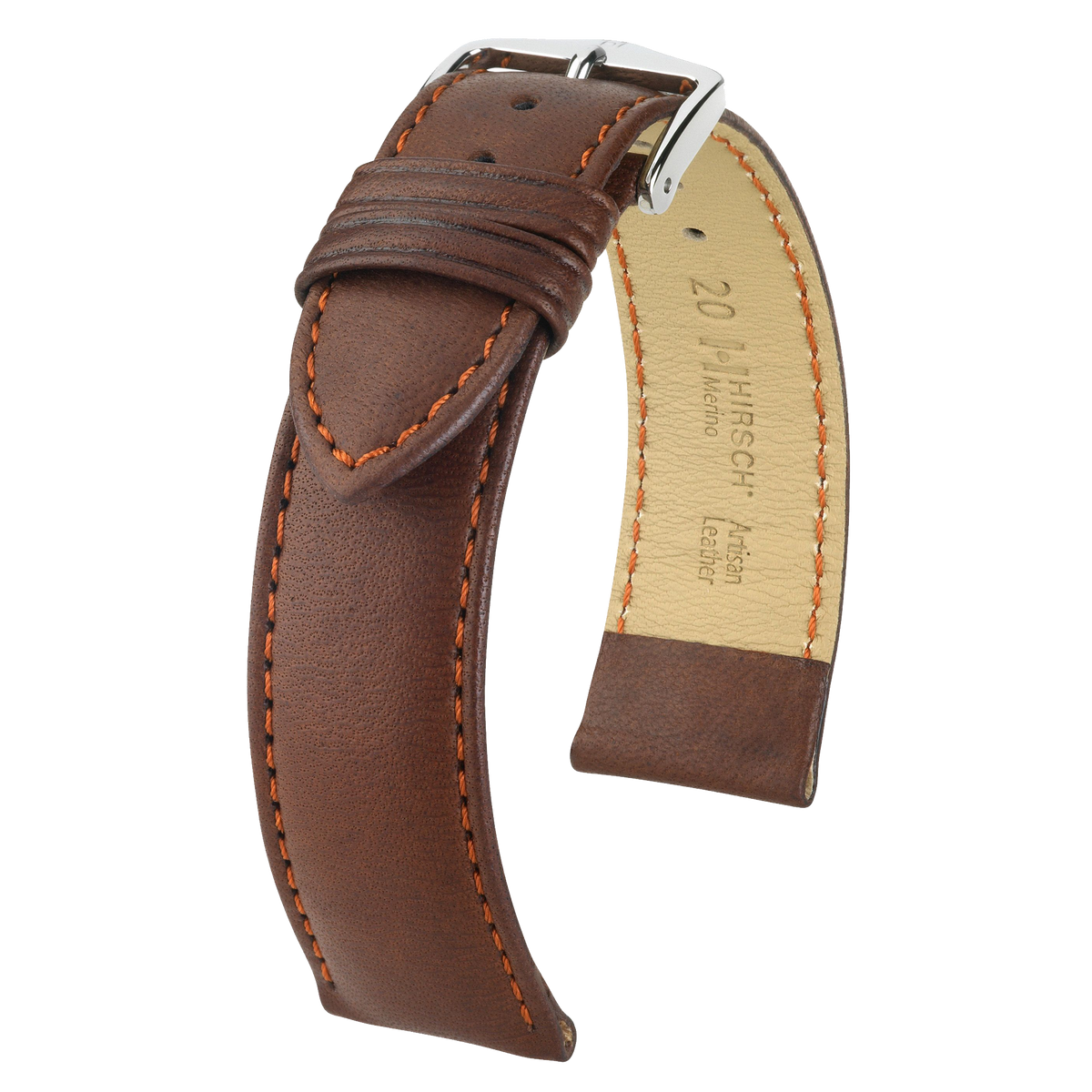 Hirsch MERINO Nappa Leather Watch Strap