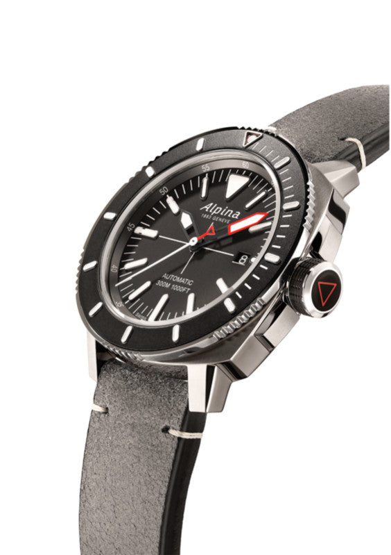 Alpina - SEASTRONG DIVER 300 AUTOMATIC - Grey Leather