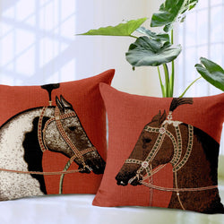 Luxury European Royal Horse Printed Cushion