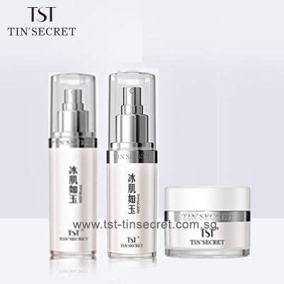 Repairing Bright Facial Cream, Moisturizing Tight Eye Cream + Tender Essential Serum Combi