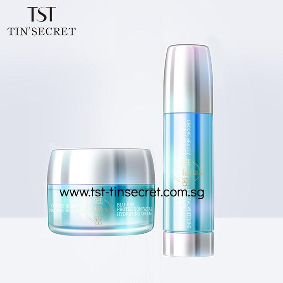 Crystal Whitening CC Cream and Blu-Ray Protection Facial Hydrating Cream Combi