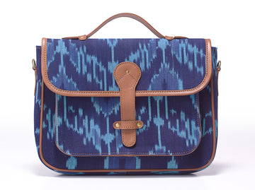 Ipad Briefcase- Blue Ikat