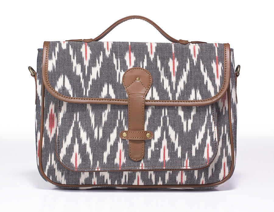 Ipad Beiefcase- Grey Ikat