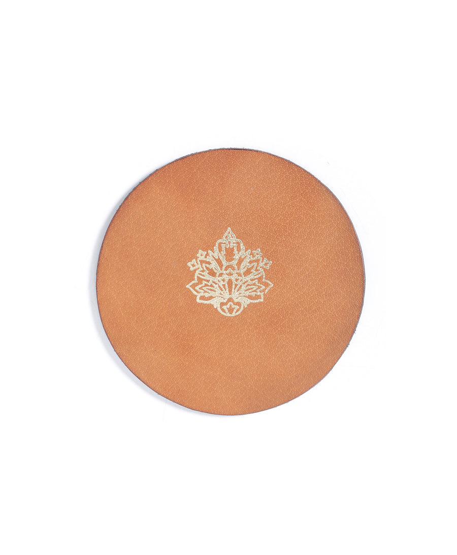 Autumn Leaf-Leather Coasters(Set of 4)