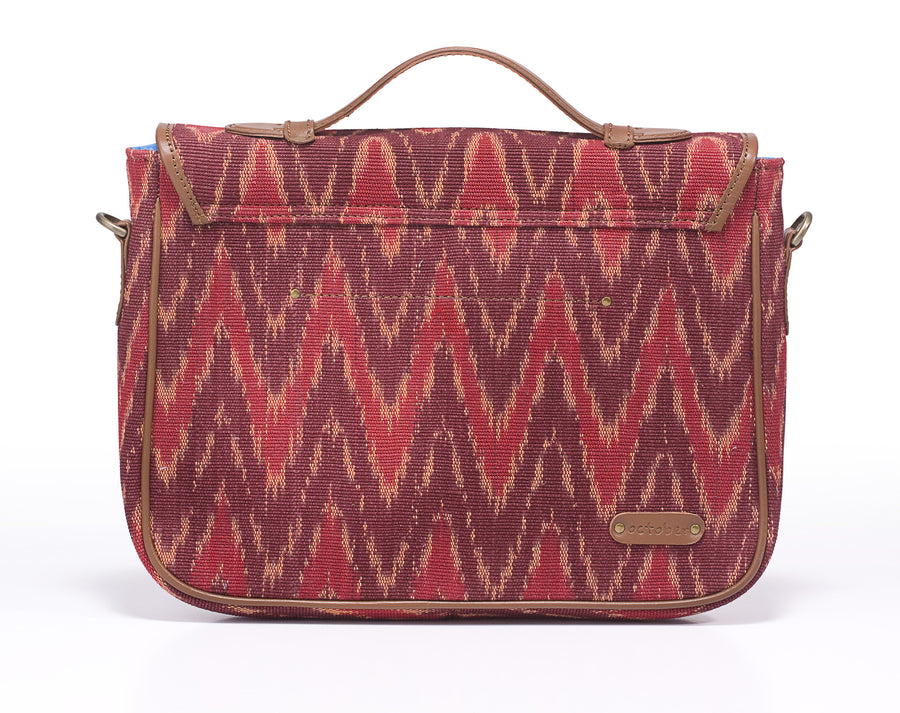 Ipad Briefcase- Red Ikat