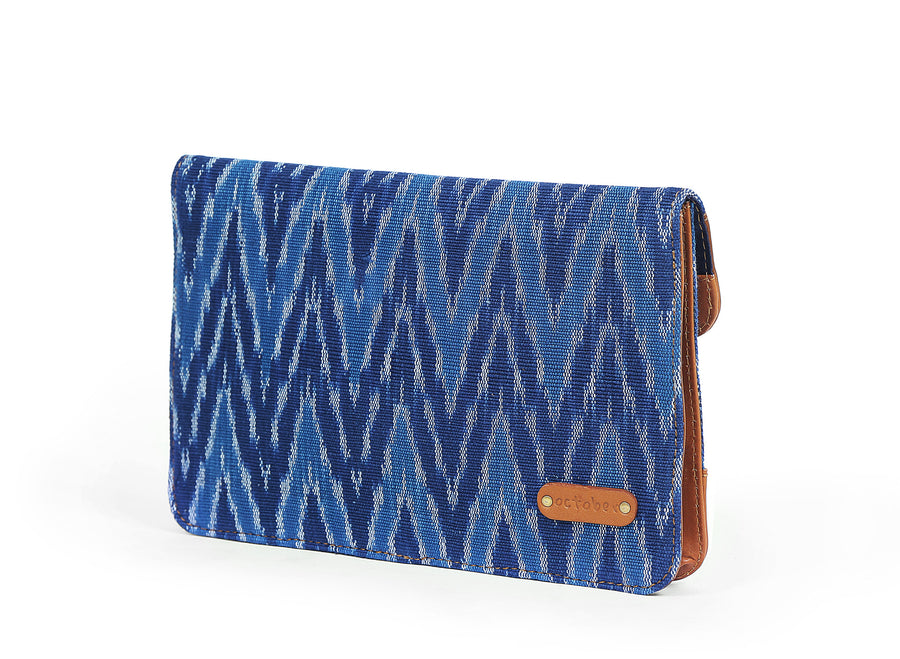 Pocket Book- Blue Ikat Durrie