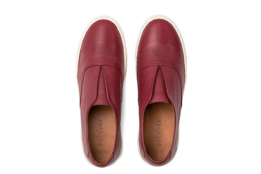 Sneakers- Maroon Leather