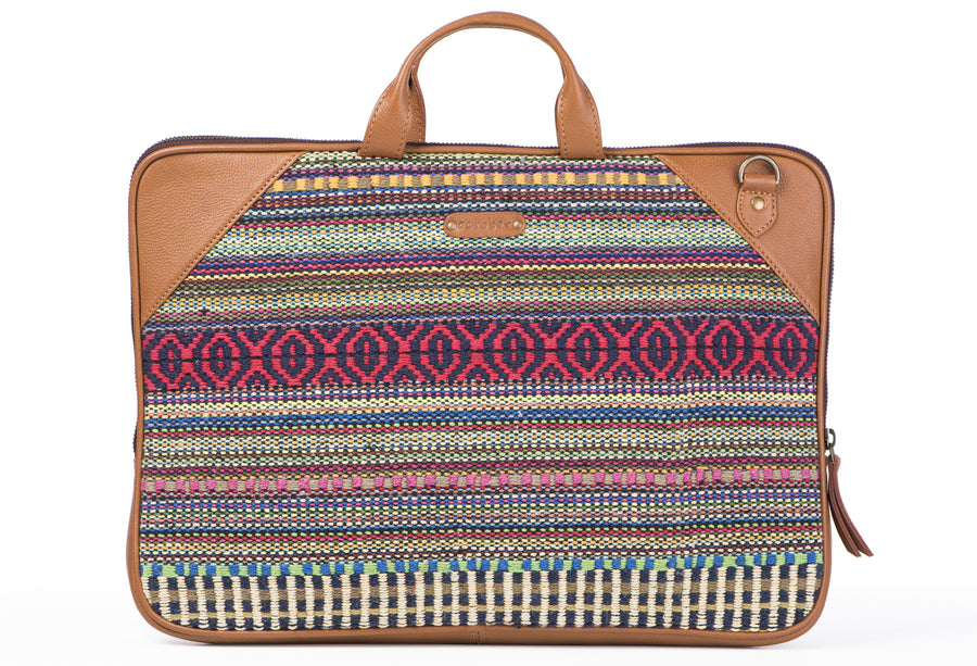 Laptop Bag- Red Durrie