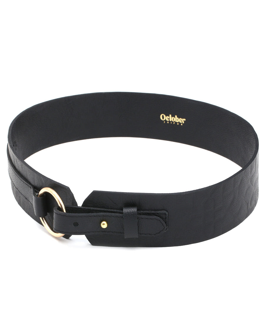 Route- Black Leather Belt