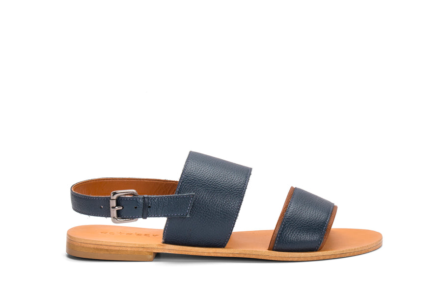 DOUBLE STRAP SANDAL-BLUE