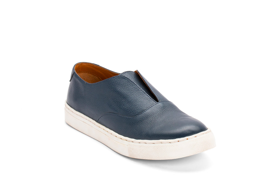 Sneakers-Blue Leather