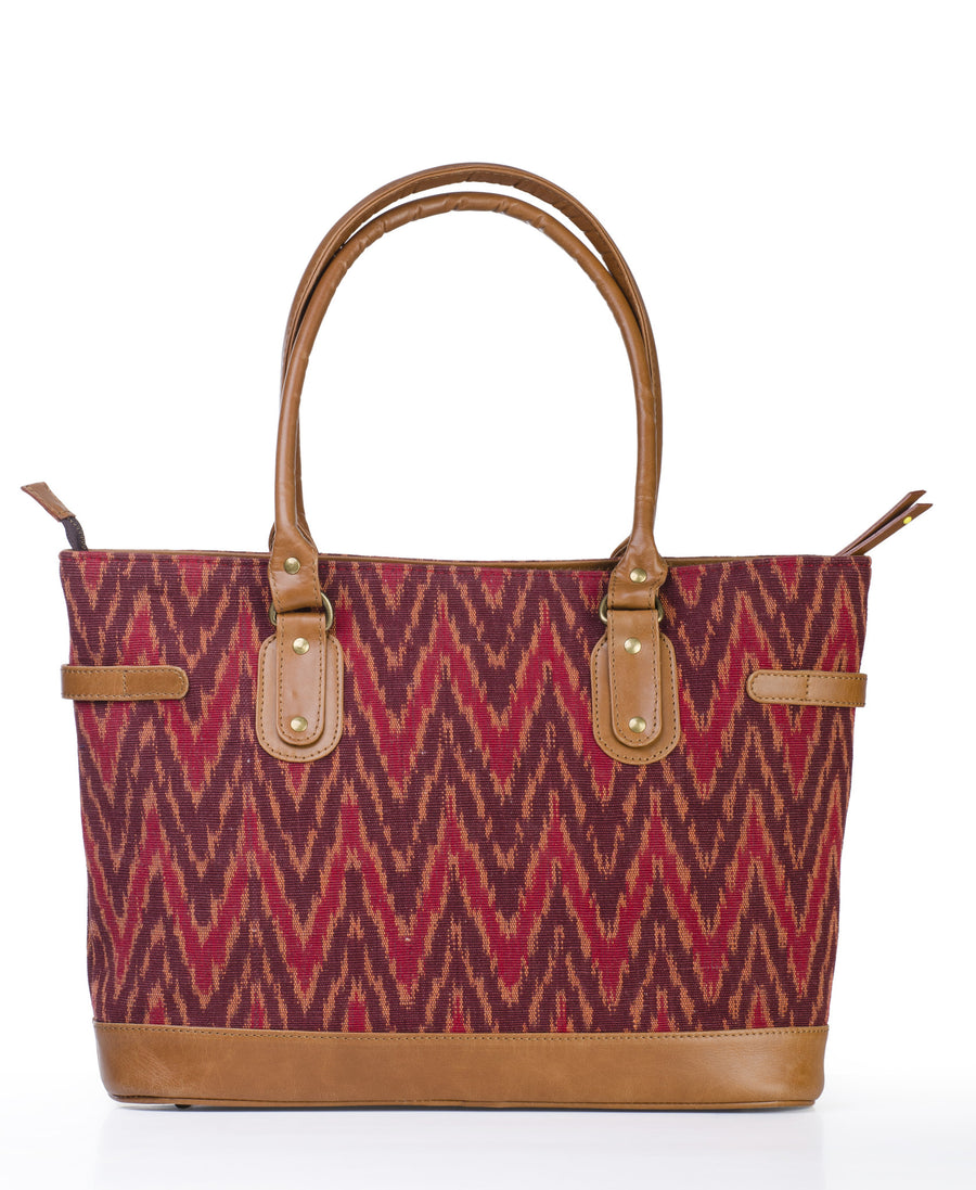 Tote Bag- Red Ikat
