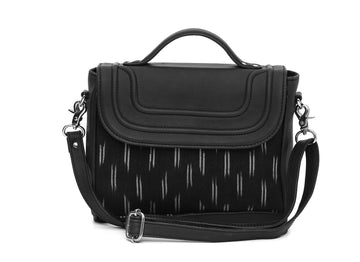 Sling Bag- Black Ikat