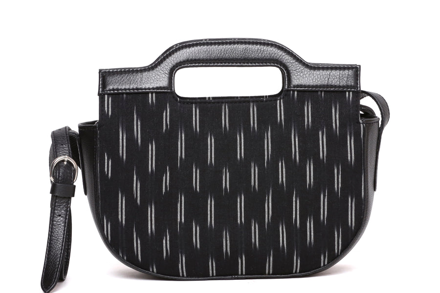 CRESCENT IKAT BLACK SLING