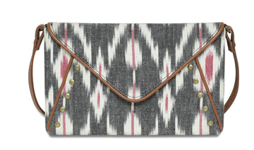 Envelope Clutch-Grey Ikat
