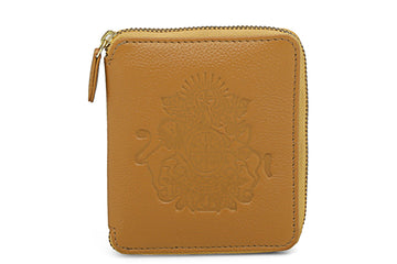 Royal Crest- Mini Wallet Camel