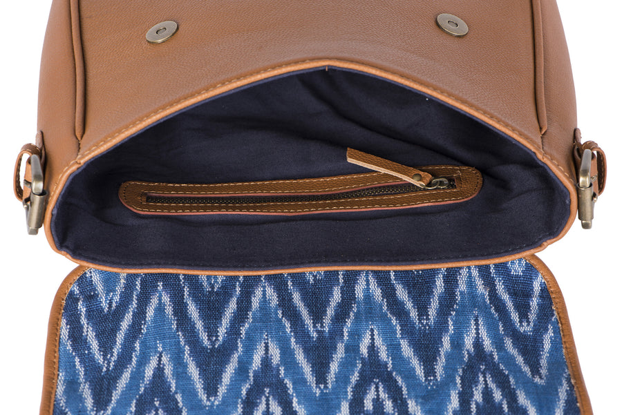 Saddle- Blue Ikat Durrie