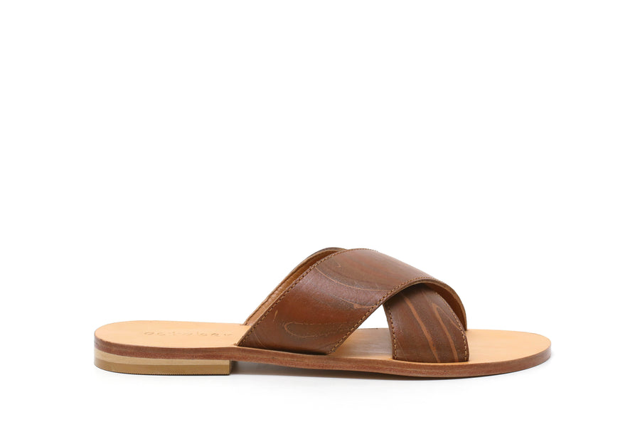 Criss Cross Slipper- Tan
