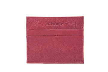 Classic Card Holder- Maroon