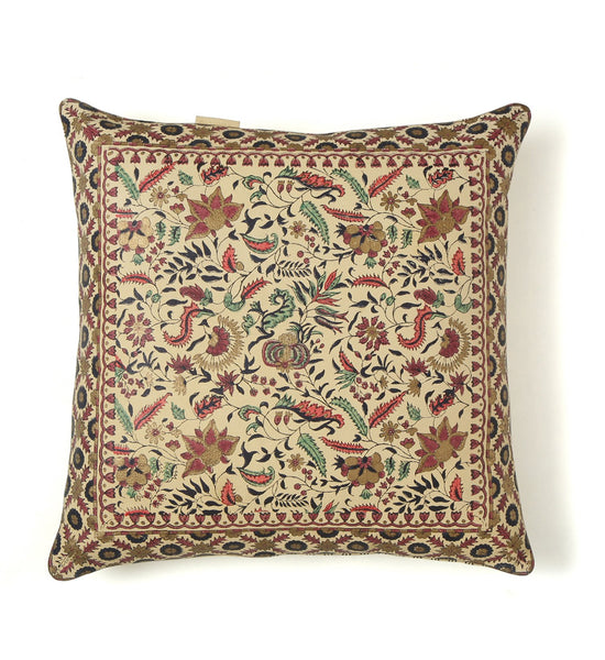 Jaipur Bagh- Cream Pillow