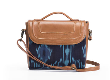 Sling Bag- Blue Ikat