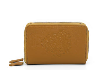 ROYAL CREST- DOUBLE ZIP MINI WALLET