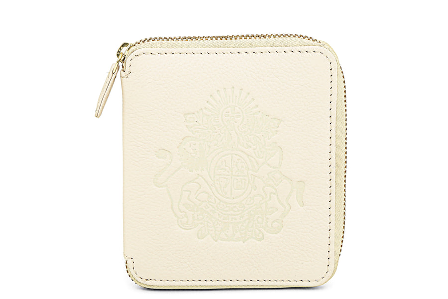 Royal Crest-Mini Wallet Pearl
