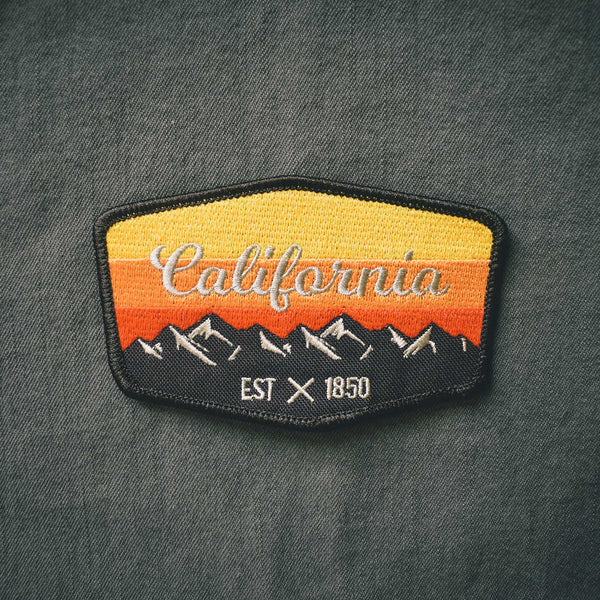 California Embroidered Patch - Retrograde Supply Co