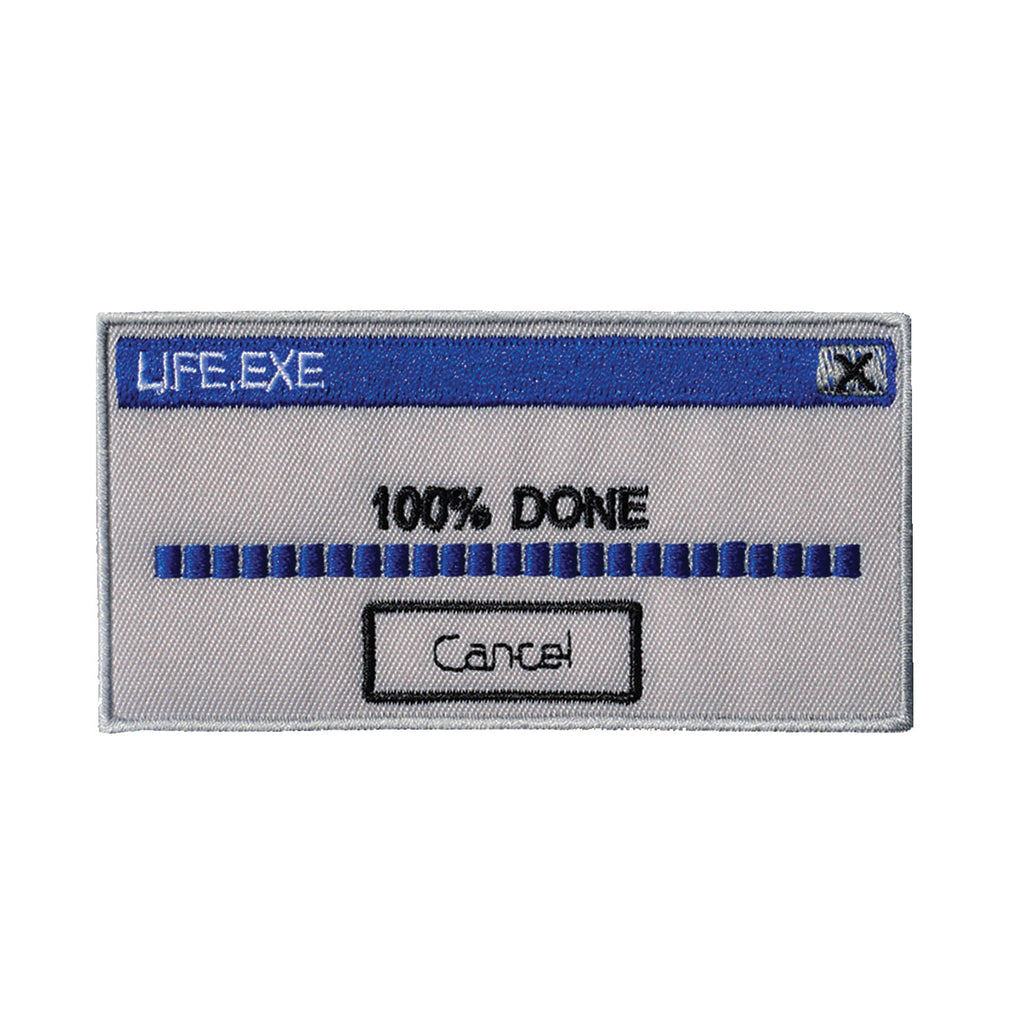100% Done with Life Embroidered Patch - Retrograde Supply Co