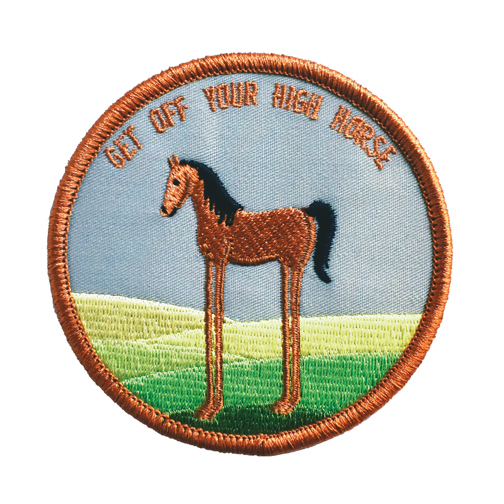 High Horse Embroidered Patch - Retrograde Supply Co